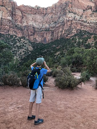Watchman Trail: Waiting for the sun!