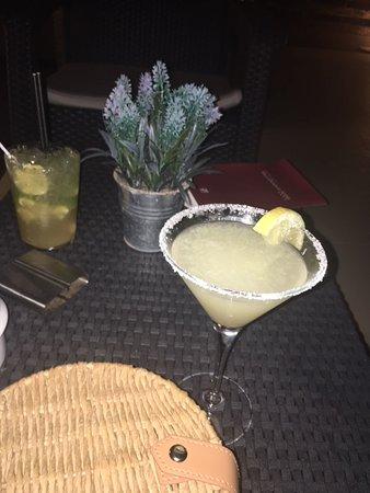 Cocktails at hotel bar