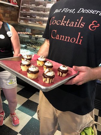 Cocktails & Cannoli: Boston's North End Dessert Tour: some tiramisu cupcakes from the tour!