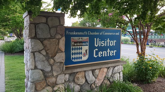 Frankenmuth Visitor & Welcome Center sign