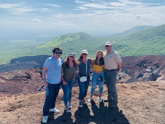 Managua, Nikaragua: on the Top of Volcano Cerro Negro with our Guide Juan Carlos