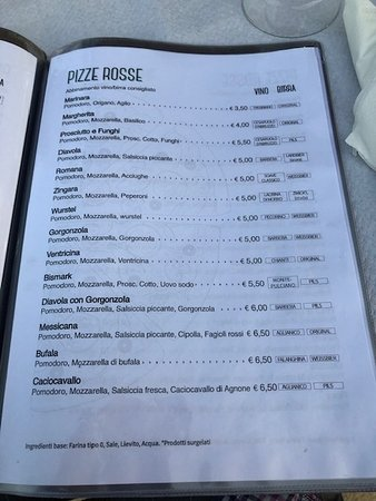 Pizza menu 5