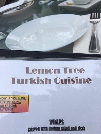 Lemon Tree Restaurant: menu