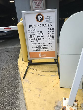 Parking rates - 2 blocks away