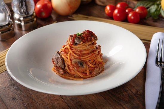 Pasta Lunch Pomodoro Pasta Beef & Mushrooms