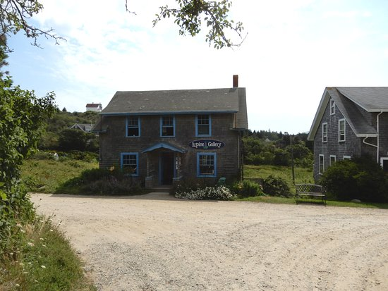 Monhegan Island, ME: Lupine Gallery is a short walk up Main Street from the boat dock