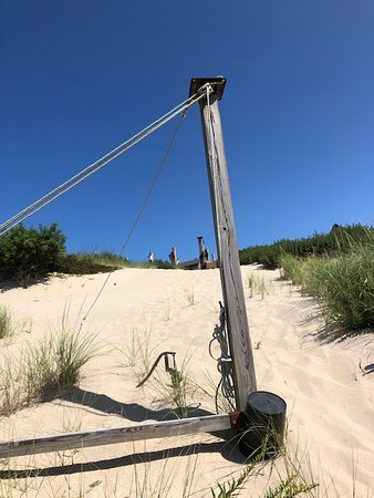 Primitive living in the dune shacks