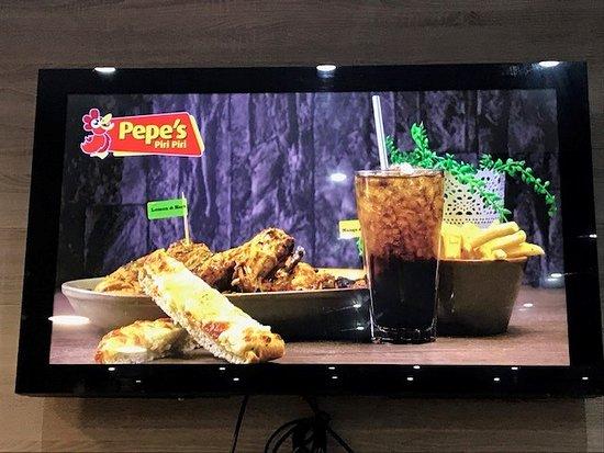 Pepe's Piri Piri: TV screen display