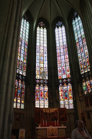 Soest, Wiesenkirche (Our Lady in the Fields), chancel stained glass windows (around 1320 to 1340)