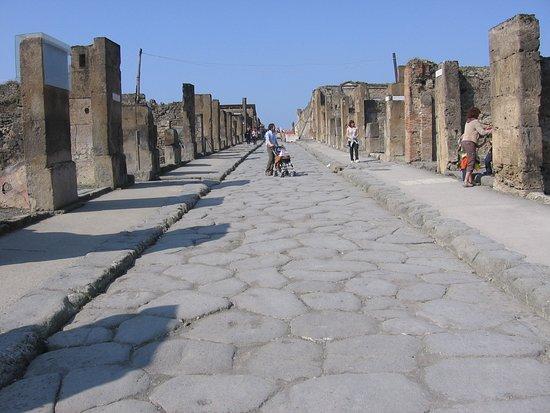 Starobylá ulice Pompejí