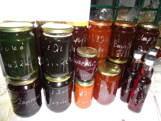Phthiotis Region, Yunanistan: Homemade jams and spoon sweets.