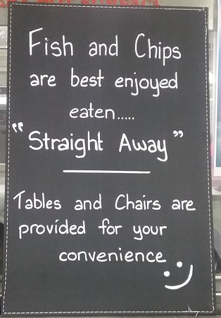 We strive to do our best  to please our customers, so pls do not  leave your takeaway food wrapped up for a long period of time. Fish and Chips are best enjoyed eaten straight away!
