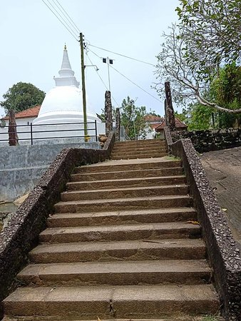 The steps leading to the Galapatha Temple in Bentota