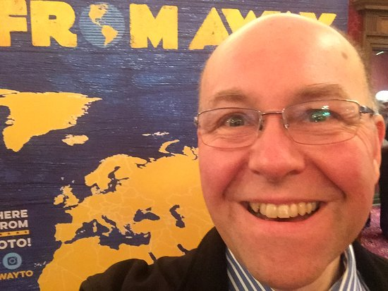 Selfie taken in the lobby of the Royal Alexandra Theatre prior to a matinee of Come From Away.