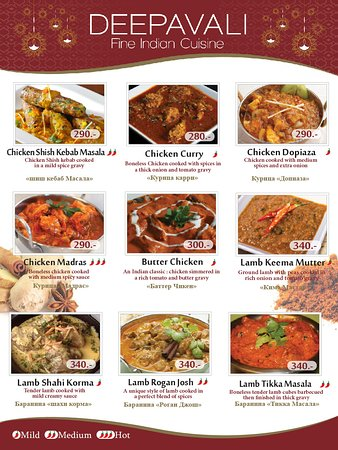 An extensive menu where each dish can be personalised to your liking. The Butter Chicken, Dal Makhanwala and Garlic Naan are the most popular dishes accompanied by a chilled glass of lassi.