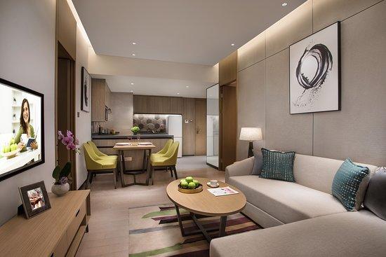 Citadines Songshan Lake Dongguan: 两房豪华行政套房客厅