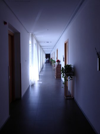 Hospedería Monástica Pax, hotellkorridor