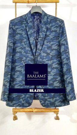 THE BAALAMS: A Camouflage Blazer. A unique blazer which is even light weight also. Hand Finishes are there on our every ready to wear blazers.