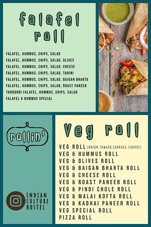 Indian Culture Food Court: Rollin' Menu