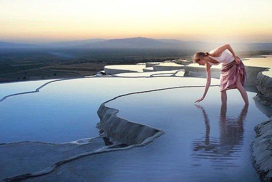 Pamukkale Tour from Antalya: Pamukkale Hot Springs and Hierapolis Ancient city