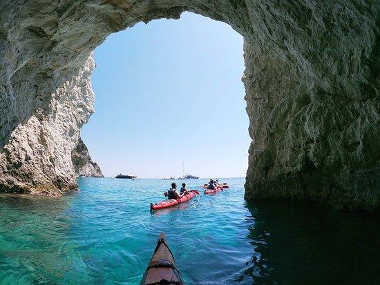 Adventure Zone: Amazing cave at Marathonisi