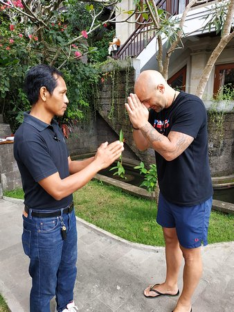 ... I'm with Budi, who works at Ketut's place villas ... Very kind  NAMASTE