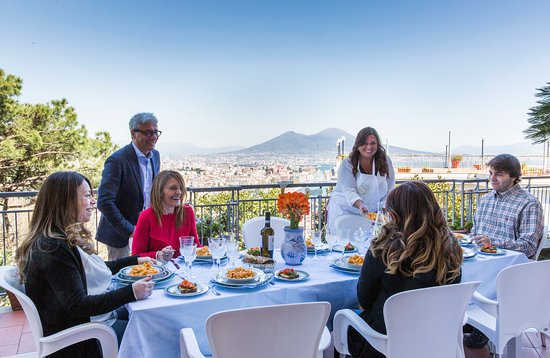 Lunch in Naples with a special view.
