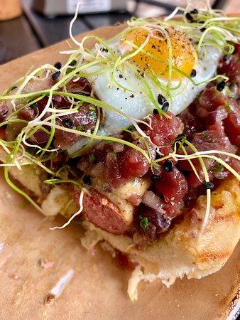 Tartar Hot Dog was heavenly good!