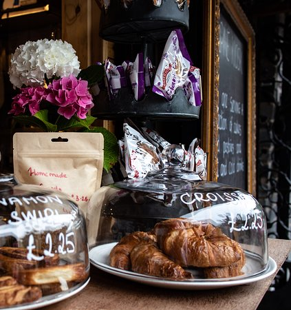 Our Alpine Kiosk serves a selection of cakes and pastries to accompany the tea and coffee