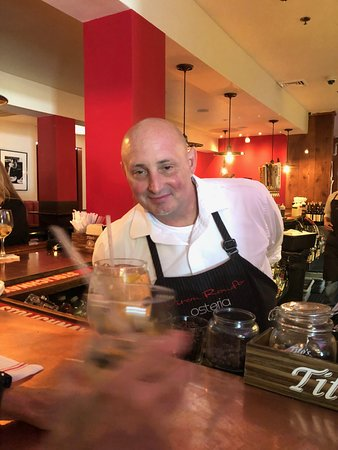 Viron Rondo Osteria: This is Greg, always a smile and great bartender!