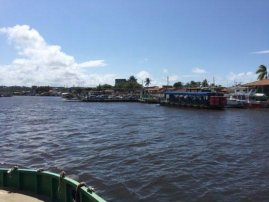 Vista a partir da Balsa atravessando de Porto Seguro para Arraial d´Ajuda.