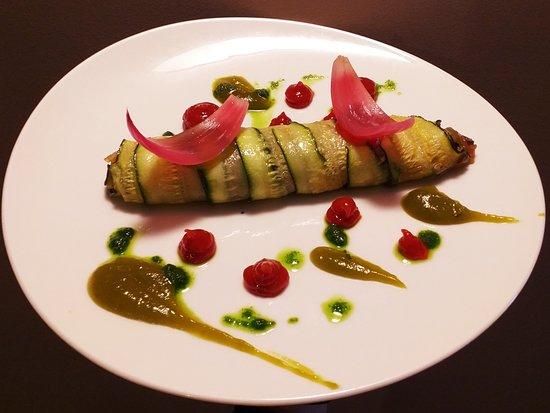 Cannelloni de calabacín relleno de ratatouille, Mermeladas de pimientos asados