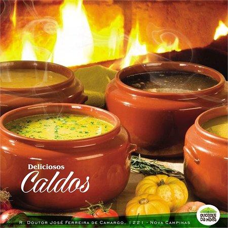 Quiosque da Horta: Caldos deliciosos