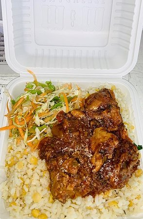 Peas & Rice + Stewed Chicken
