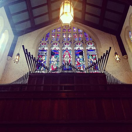 Trinity's Moller pipe organ is one of the most prized in the region.  Set against the backdrop of our west window, the trumpets are something to behold.