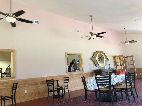 The ample tasting room