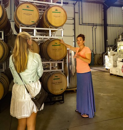Learning behind the scenes at Clos du Soleil!