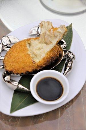 Man Ho Chinese Restaurant: 黃金炸蟹蓋