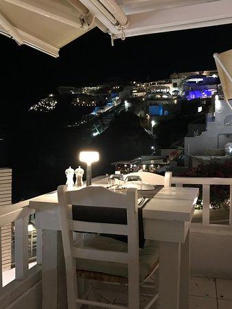 Argo Restaurant: Terrazza vista Caldera