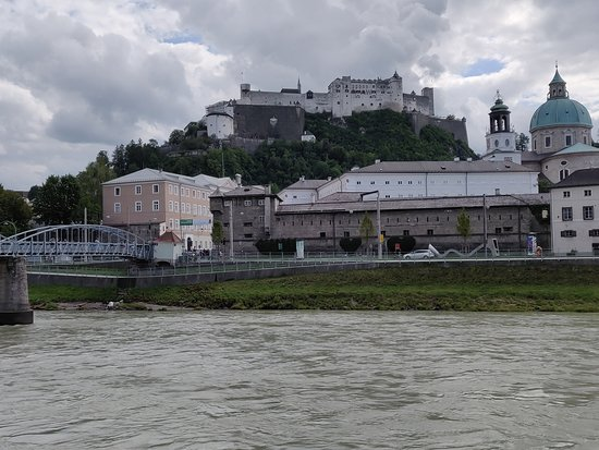 Fortress Hohensalzburg Castle: View from the river