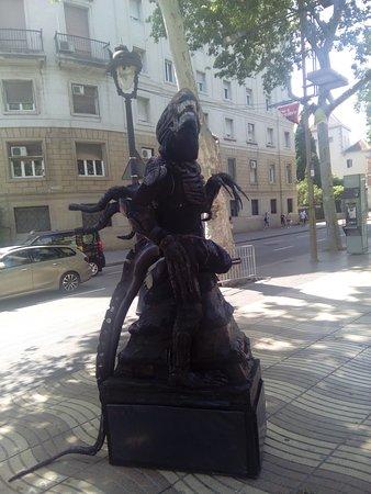 Barcelona, Španělsko: Atrakcija na setalistu