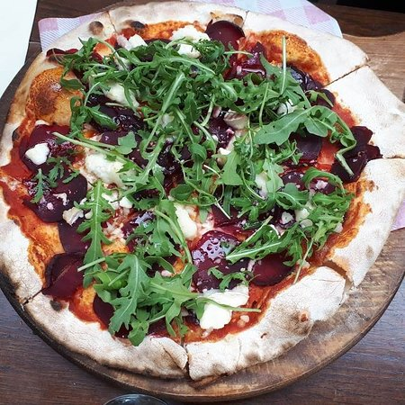 Goose & Gander - Beetroot, goats cheese and honey pizza