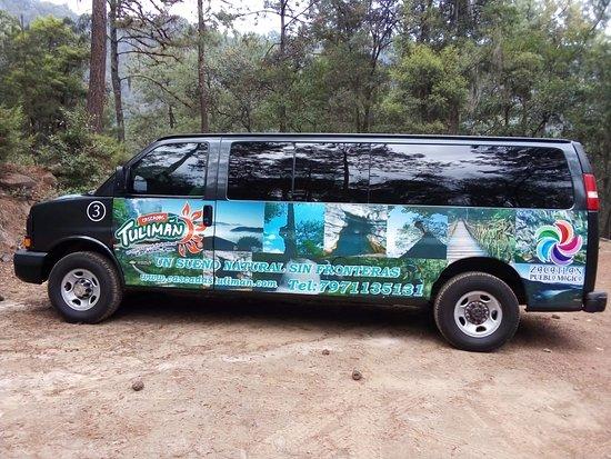 Cascadas Tuliman: Tambien cuentan con el servicio de Transporte para facilitarte la distancia de los recorridos entre una zona y otra... Y tambien desde los Pueblos mágicos de ZAcatlán y Chignahuapan.