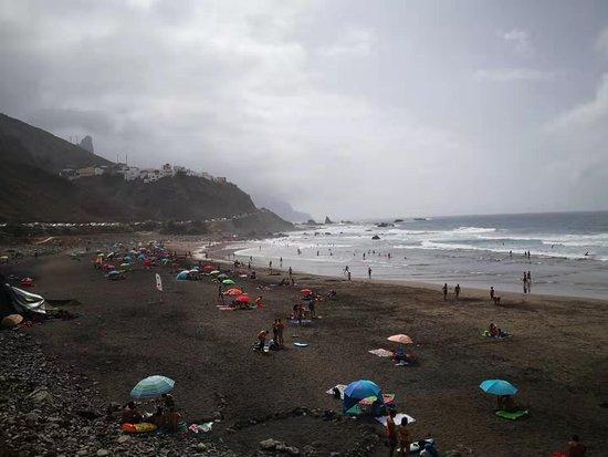Playa de Benijo: View of the beach