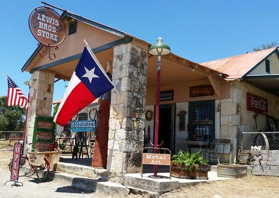 Pipe Creek, TX: Lewis Bros. Store. Located in this historic Gulf filling station at 8529 Hwy 16 S. 7 miles south of Bandera.  Antiques and so much more... Great store with lots of vendors and a friendly atmosphere.  Be sure and stop by!