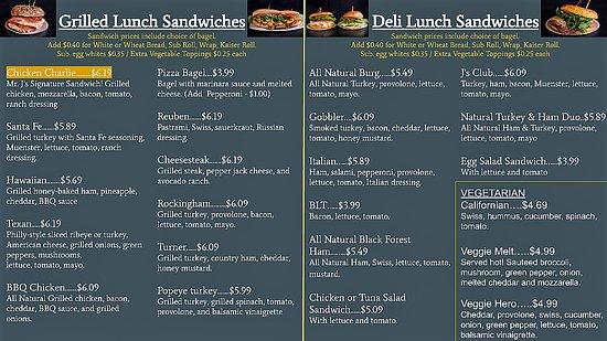 Mr. J's Bagels & Deli I - East Market Street: menu