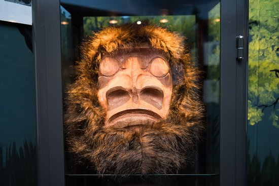 Sasquatch Mask carved by Gary Leon of Sts'Ailes.