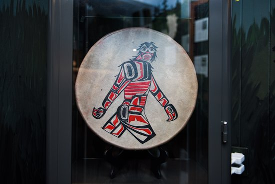 Sasquatch Drum with traditional Sts'Ailes Sasquatch