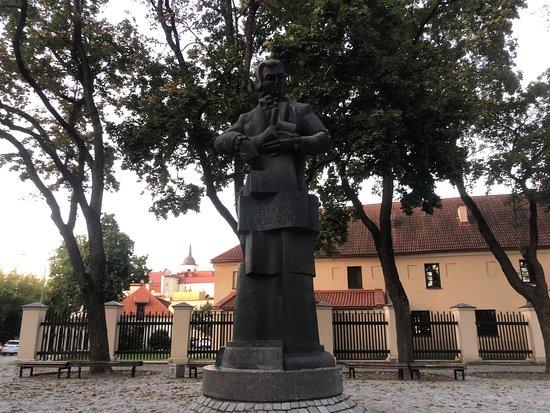 Statue of Laurynas Gucevičius: Near Presidental palace