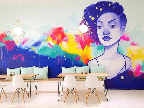 Honey Art Cafe: Art themed cafe where customers can paint, craft, and eat desserts.